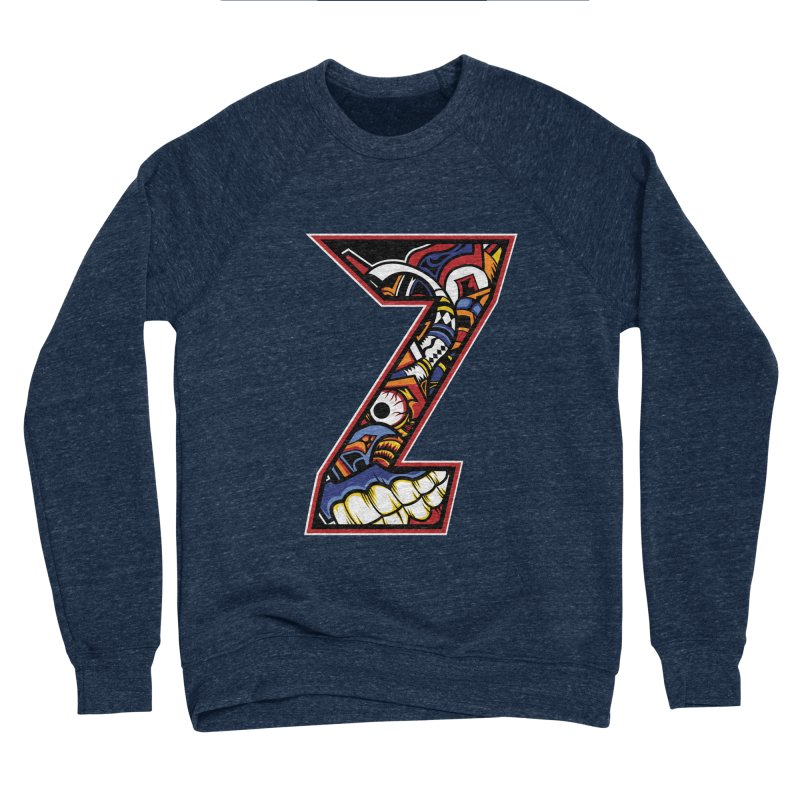 Crazy Face_Z003 Men's Sponge Fleece Sweatshirt by Art of Yaky Artist Shop