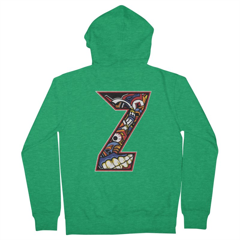 Crazy Face_Z003 Women's Zip-Up Hoody by Art of Yaky Artist Shop