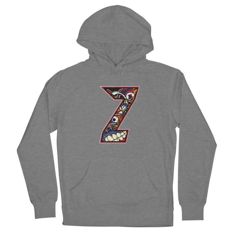 Crazy Face_Z003 Men's French Terry Pullover Hoody by Art of Yaky Artist Shop