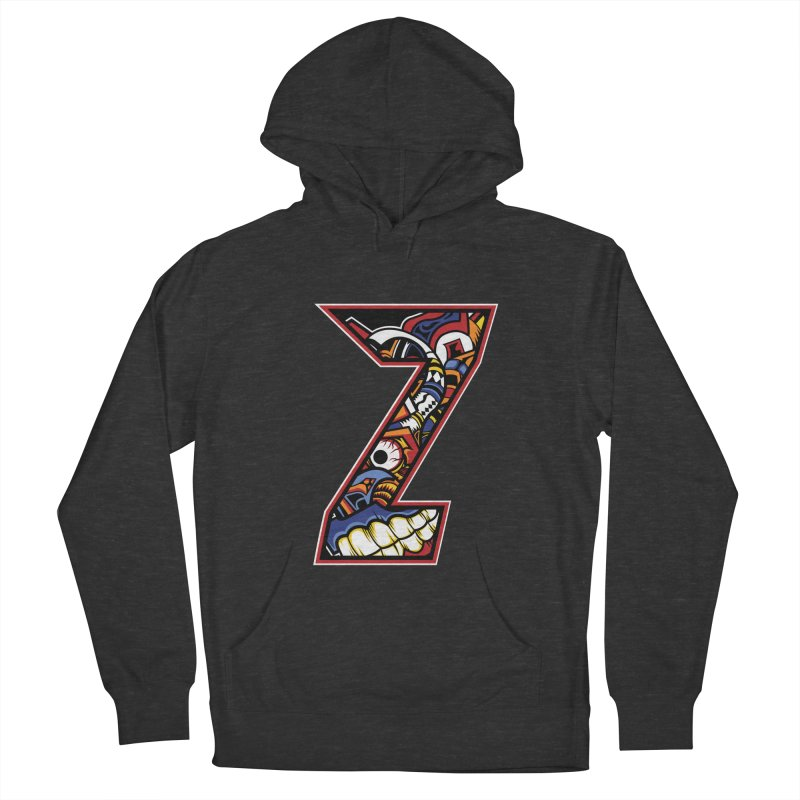 Crazy Face_Z003 Women's French Terry Pullover Hoody by Art of Yaky Artist Shop