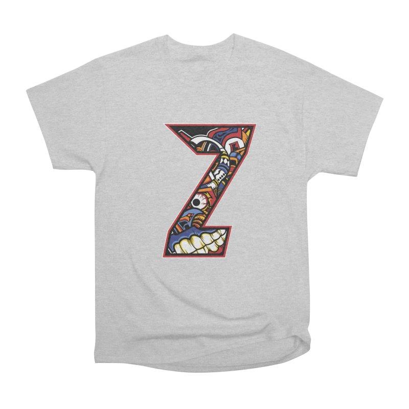 Crazy Face_Z003 Women's Heavyweight Unisex T-Shirt by Art of Yaky Artist Shop