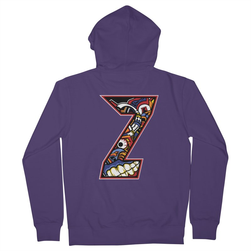 Crazy Face_Z003 Women's French Terry Zip-Up Hoody by Art of Yaky Artist Shop