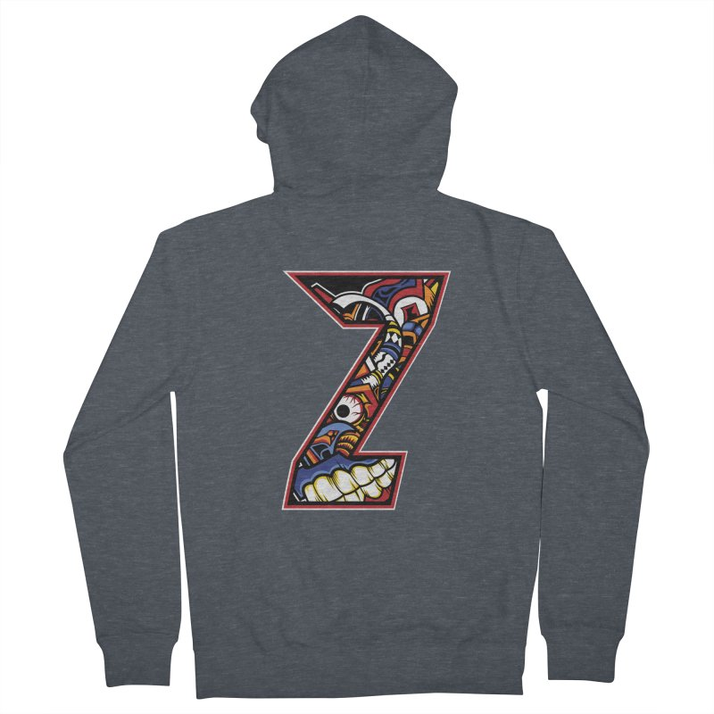 Crazy Face_Z003 Men's French Terry Zip-Up Hoody by Art of Yaky Artist Shop