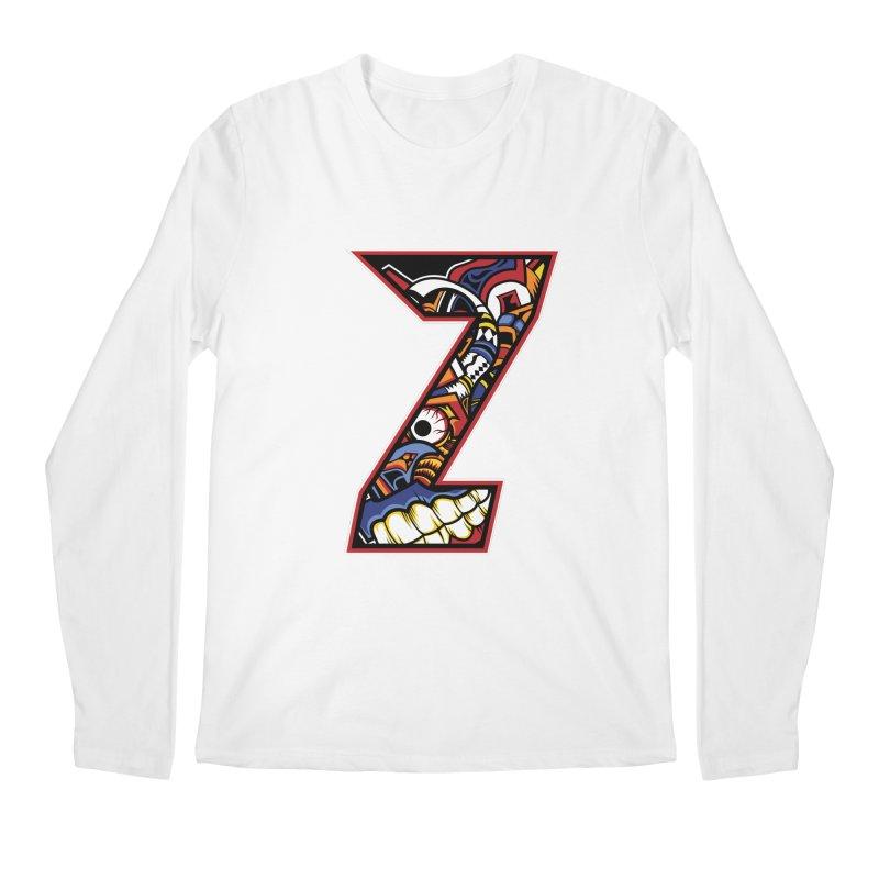 Crazy Face_Z003 Men's Regular Longsleeve T-Shirt by Art of Yaky Artist Shop