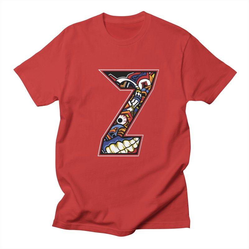 Crazy Face_Z003 Men's Regular T-Shirt by Art of Yaky Artist Shop