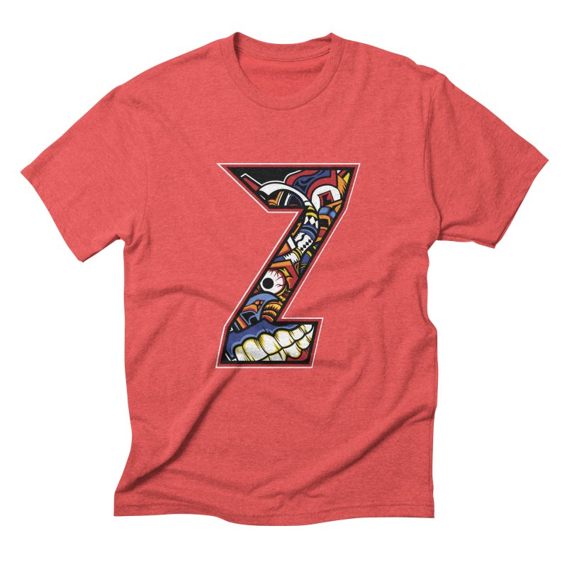Crazy Face_Z003 Men's Triblend T-Shirt by Art of Yaky Artist Shop