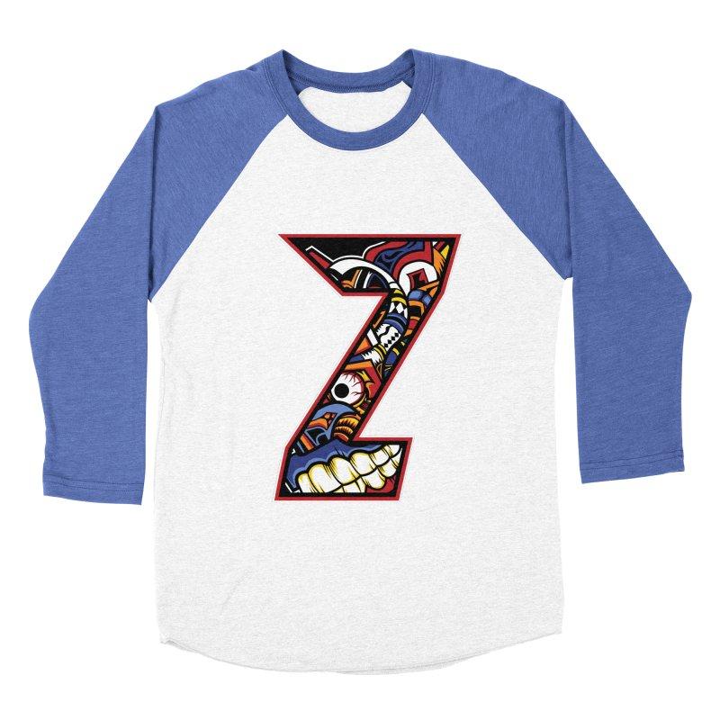Crazy Face_Z003 Women's Baseball Triblend Longsleeve T-Shirt by Art of Yaky Artist Shop