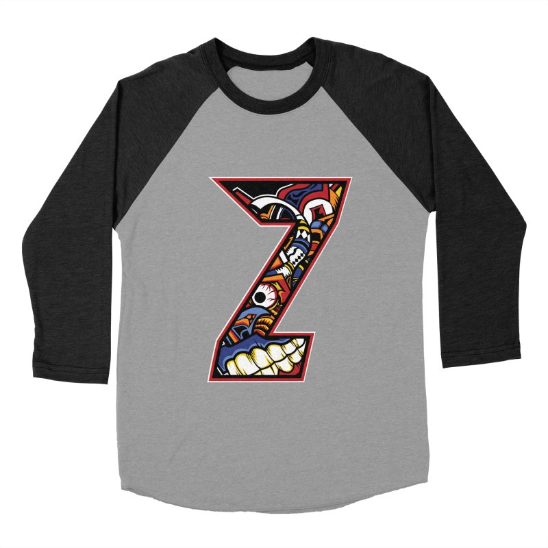 Crazy Face_Z003 Men's Baseball Triblend Longsleeve T-Shirt by Art of Yaky Artist Shop