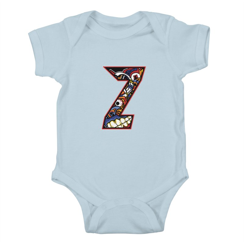 Crazy Face_Z003 Kids Baby Bodysuit by Art of Yaky Artist Shop