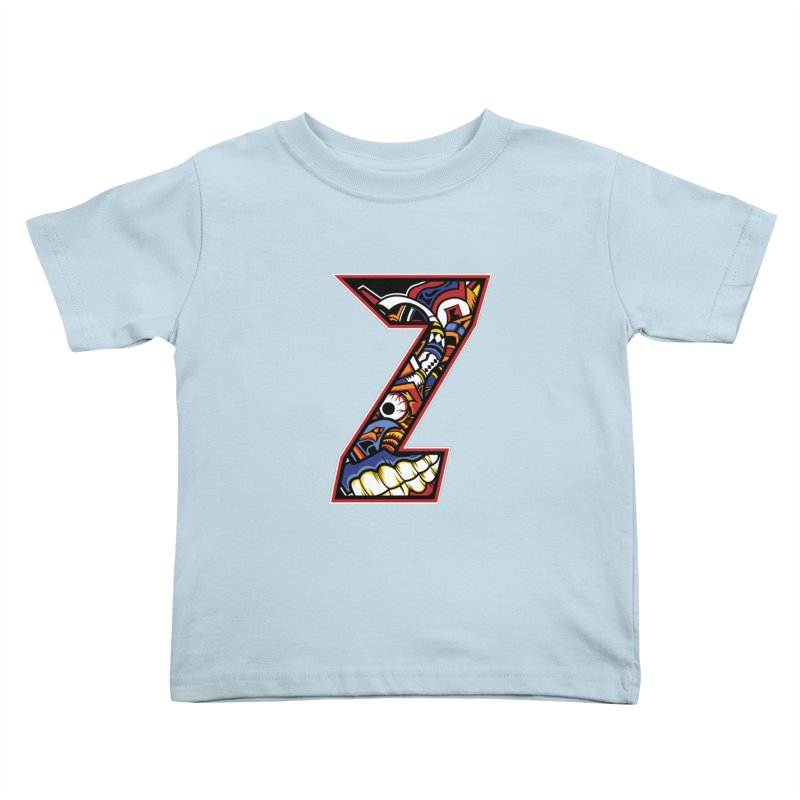 Crazy Face_Z003 Kids Toddler T-Shirt by Art of Yaky Artist Shop