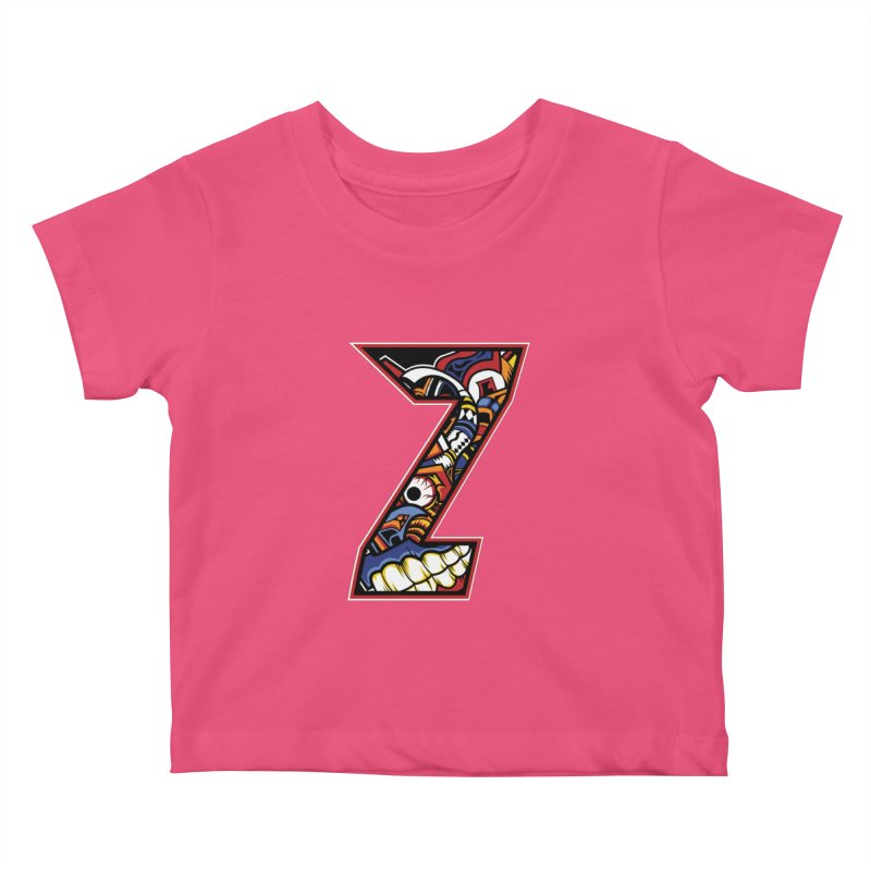 Crazy Face_Z003 Kids Baby T-Shirt by Art of Yaky Artist Shop