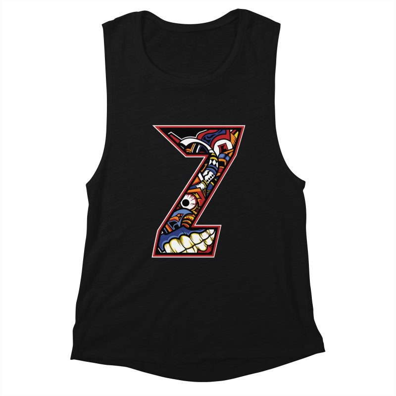 Crazy Face Alphabet (Z) Women's Tank by Yaky's Customs