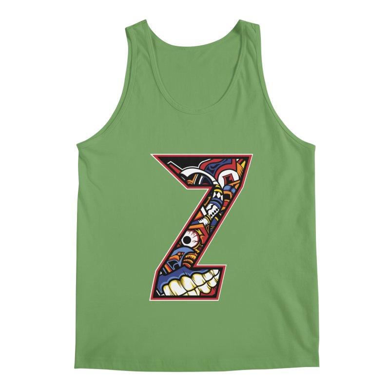 Crazy Face Alphabet (Z) Men's Tank by Yaky's Customs