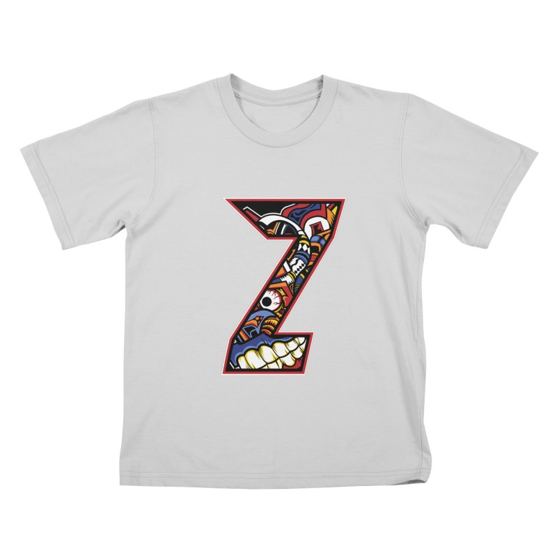Crazy Face_Z003 Kids T-Shirt by Art of Yaky Artist Shop