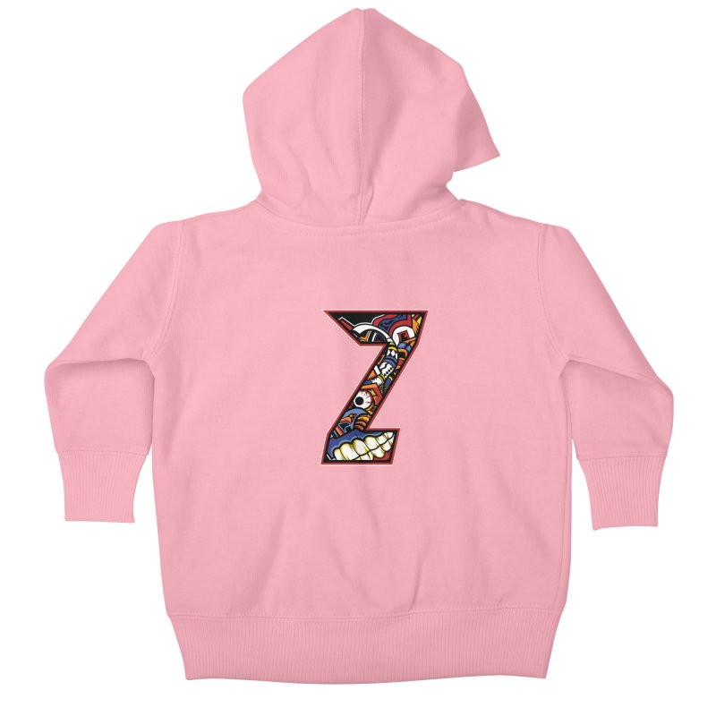 Crazy Face_Z003 Kids Baby Zip-Up Hoody by Art of Yaky Artist Shop