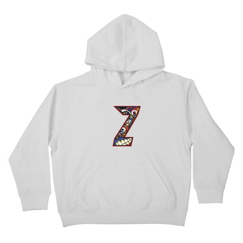 Crazy Face_Z003 Kids Pullover Hoody by Art of Yaky Artist Shop