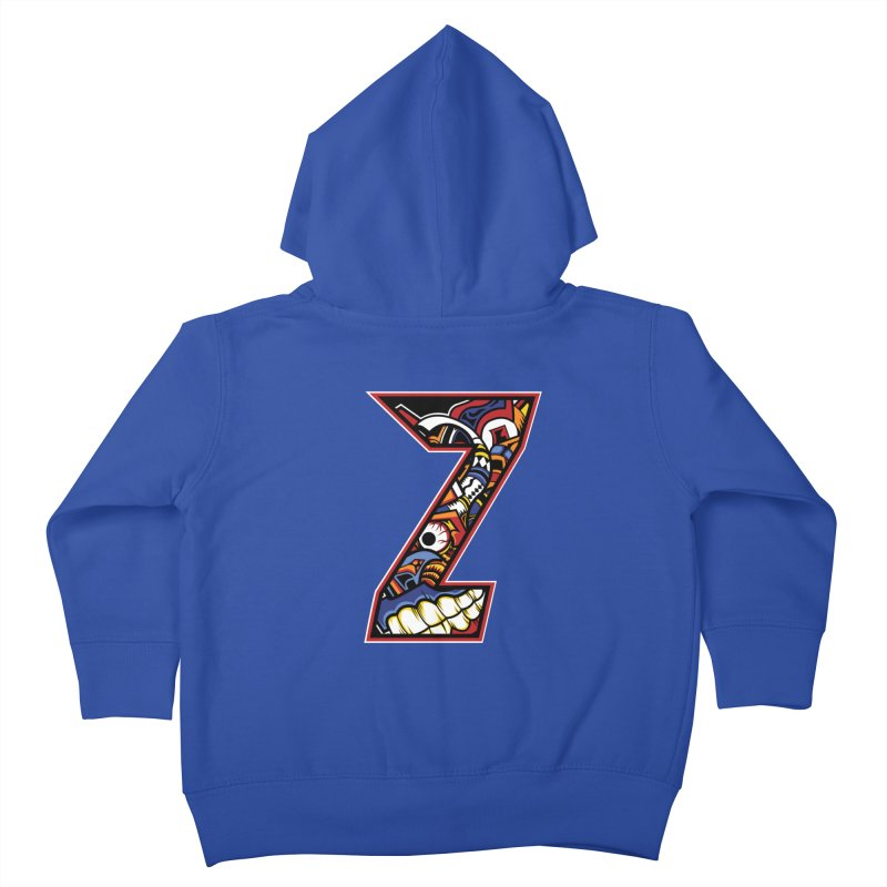 Crazy Face_Z003 Kids Toddler Zip-Up Hoody by Art of Yaky Artist Shop