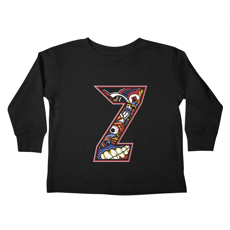 Crazy Face_Z003 Kids Toddler Longsleeve T-Shirt by Art of Yaky Artist Shop