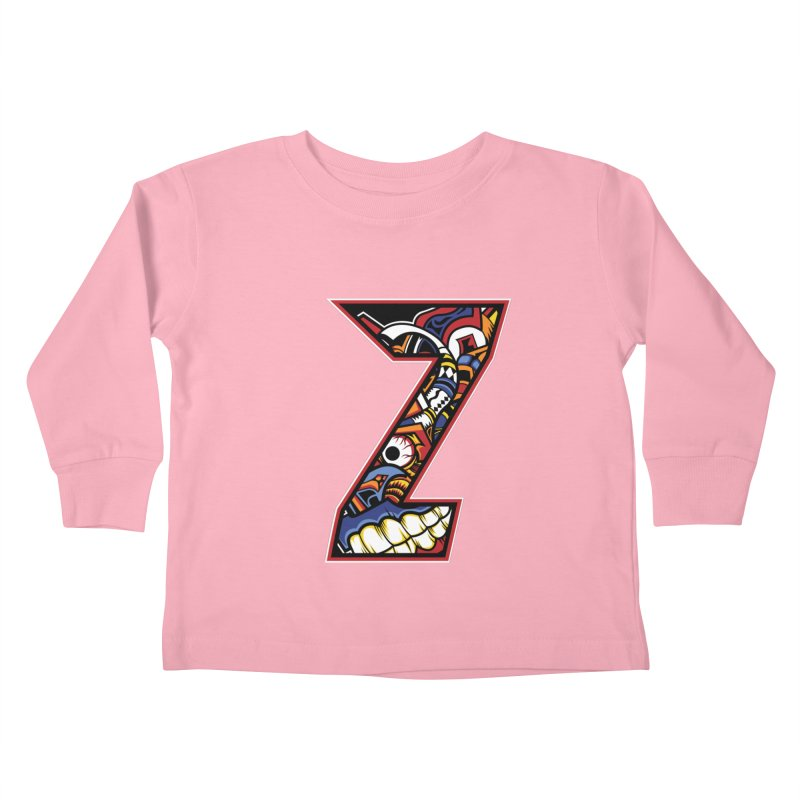 Crazy Face_Z003 Kids Toddler Longsleeve T-Shirt by Art of Yaky Artist Shop