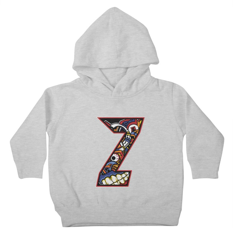 Crazy Face_Z003 Kids Toddler Pullover Hoody by Art of Yaky Artist Shop