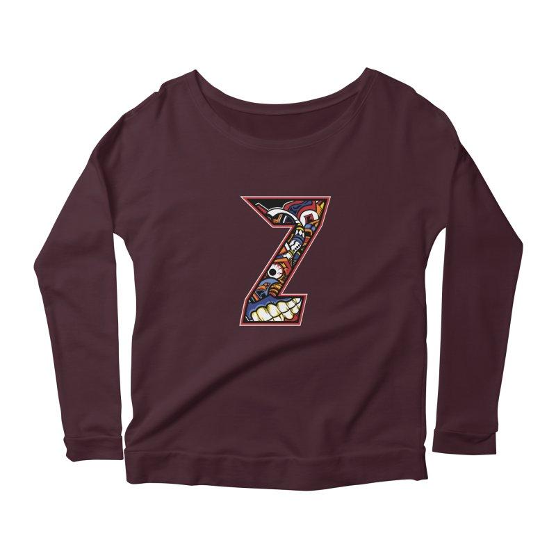 Crazy Face_Z003 Women's Longsleeve T-Shirt by Art of Yaky Artist Shop
