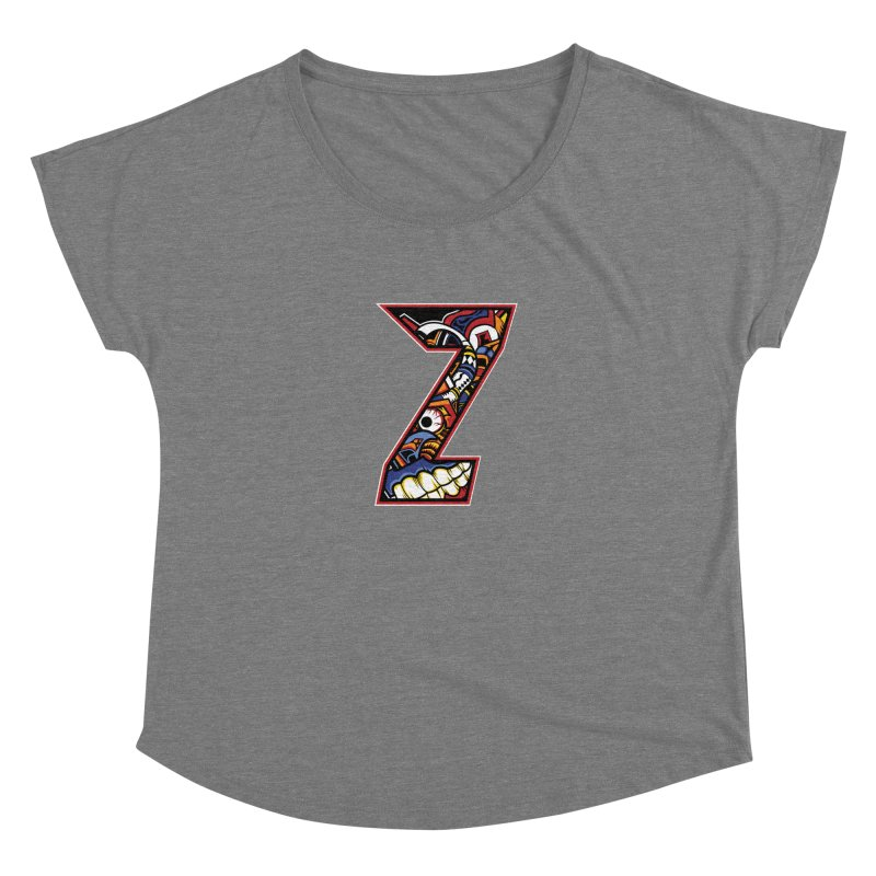 Crazy Face_Z003 Women's Scoop Neck by Art of Yaky Artist Shop