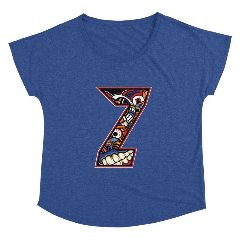 Crazy Face_Z003 Women's Dolman Scoop Neck by Art of Yaky Artist Shop