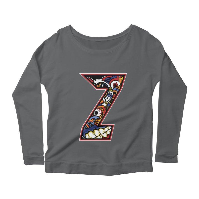 Crazy Face_Z003 Women's Scoop Neck Longsleeve T-Shirt by Art of Yaky Artist Shop