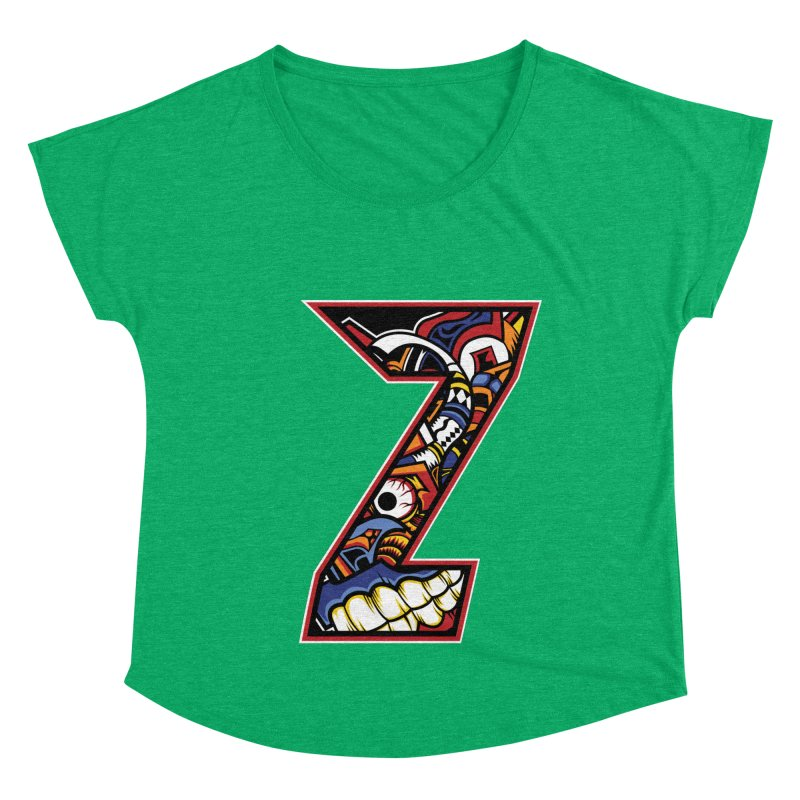 Crazy Face_Z003 Women's Dolman Scoop Neck by Art of Yaky Artist Shop