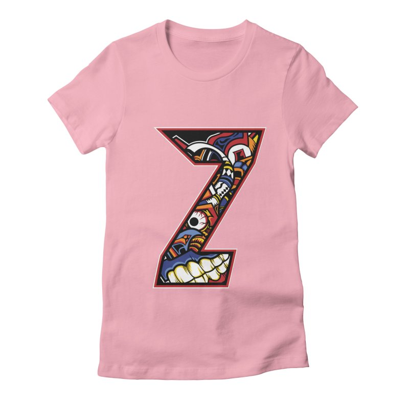 Crazy Face_Z003 Women's Fitted T-Shirt by Art of Yaky Artist Shop