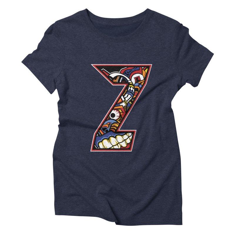 Crazy Face_Z003 Women's Triblend T-Shirt by Art of Yaky Artist Shop