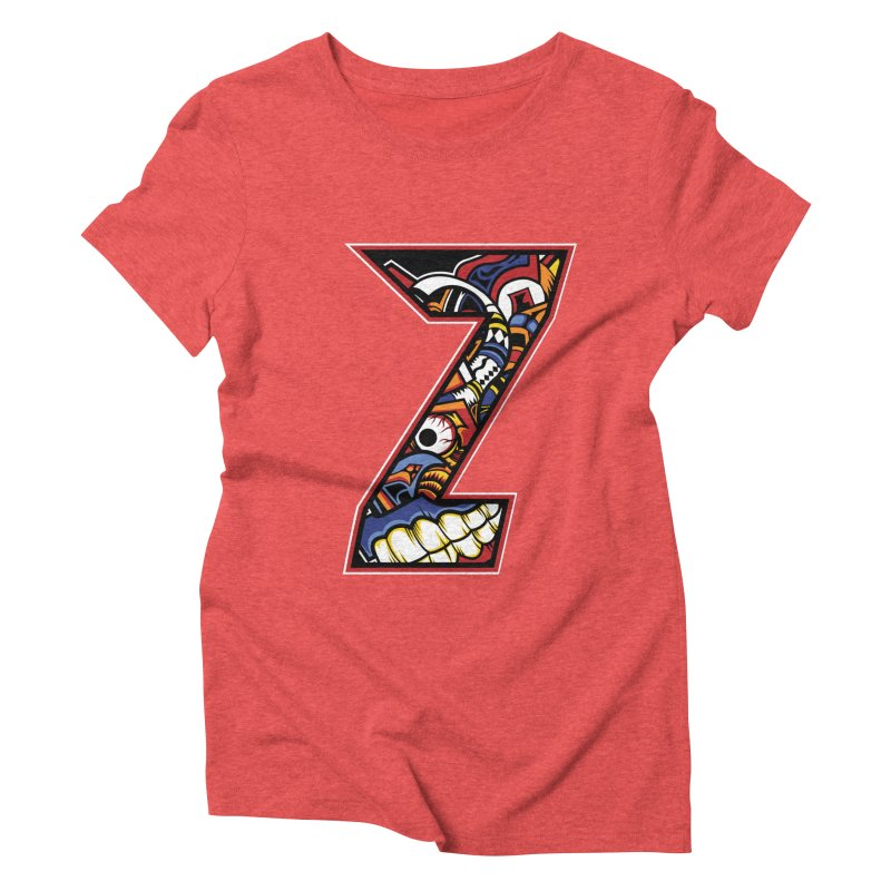 Crazy Face_Z003 Women's Triblend T-Shirt by Art of Yaky Artist Shop