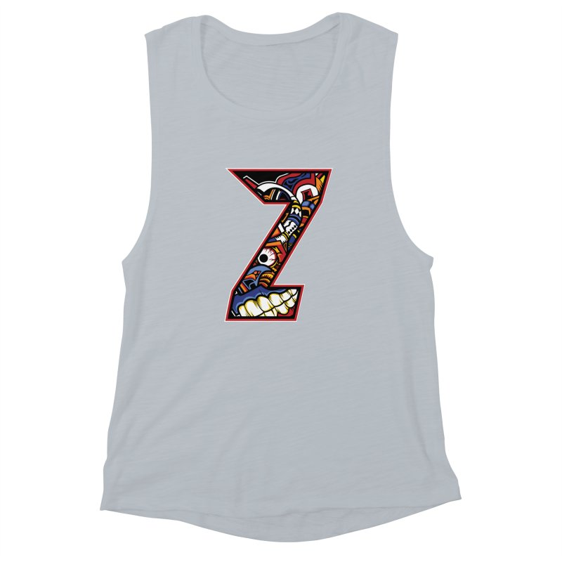 Crazy Face_Z003 Women's Muscle Tank by Art of Yaky Artist Shop