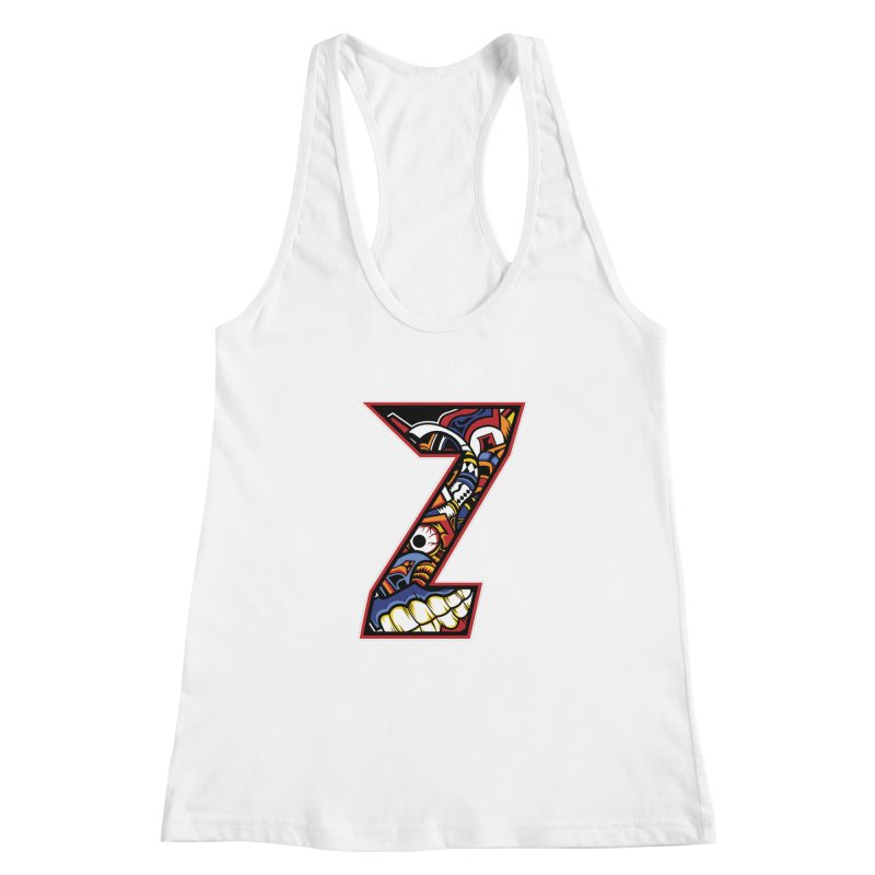 Crazy Face_Z003 Women's Racerback Tank by Art of Yaky Artist Shop