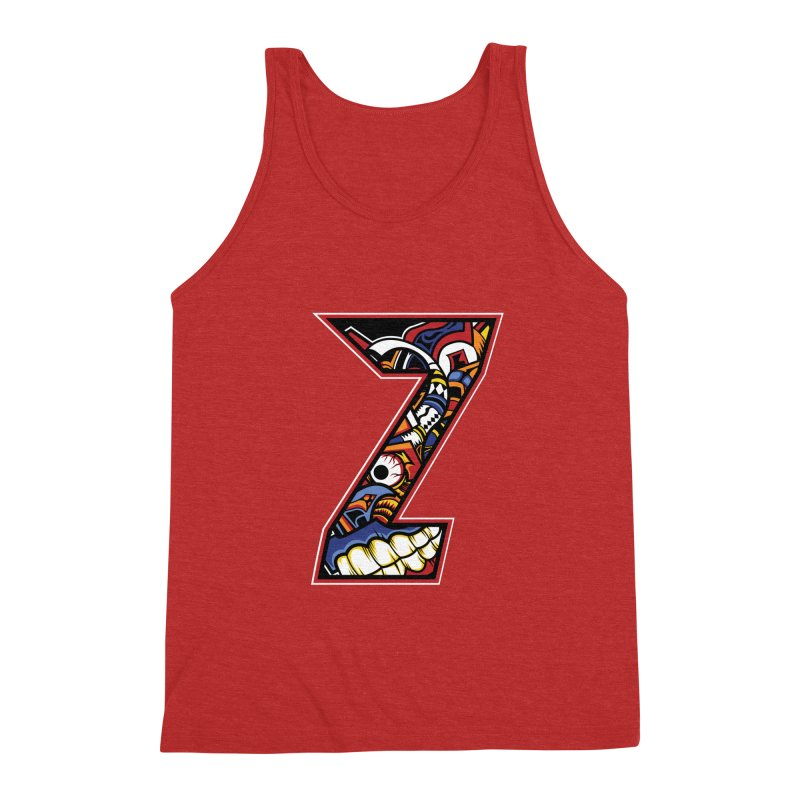 Crazy Face_Z003 Men's Triblend Tank by Art of Yaky Artist Shop