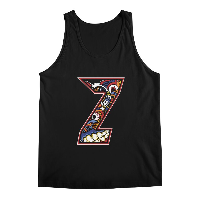 Crazy Face_Z003 Men's Regular Tank by Art of Yaky Artist Shop