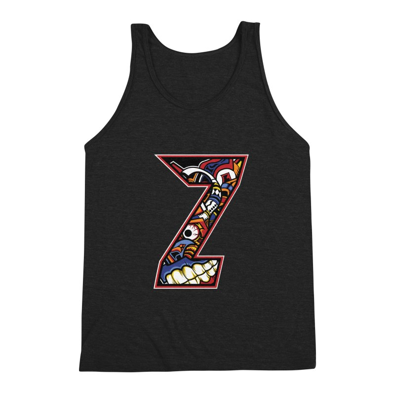 Crazy Face_Z003 Men's Triblend Tank by Art of Yaky Artist Shop