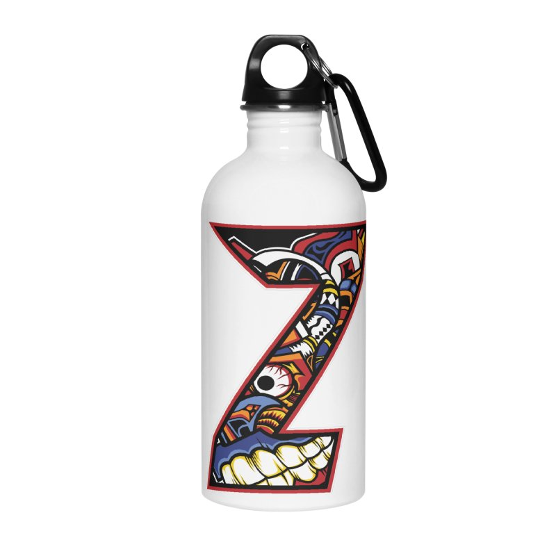 Crazy Face_Z003 Accessories Water Bottle by Art of Yaky Artist Shop