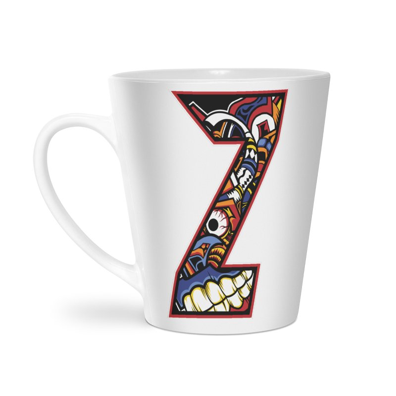 Crazy Face_Z003 Accessories Latte Mug by Art of Yaky Artist Shop