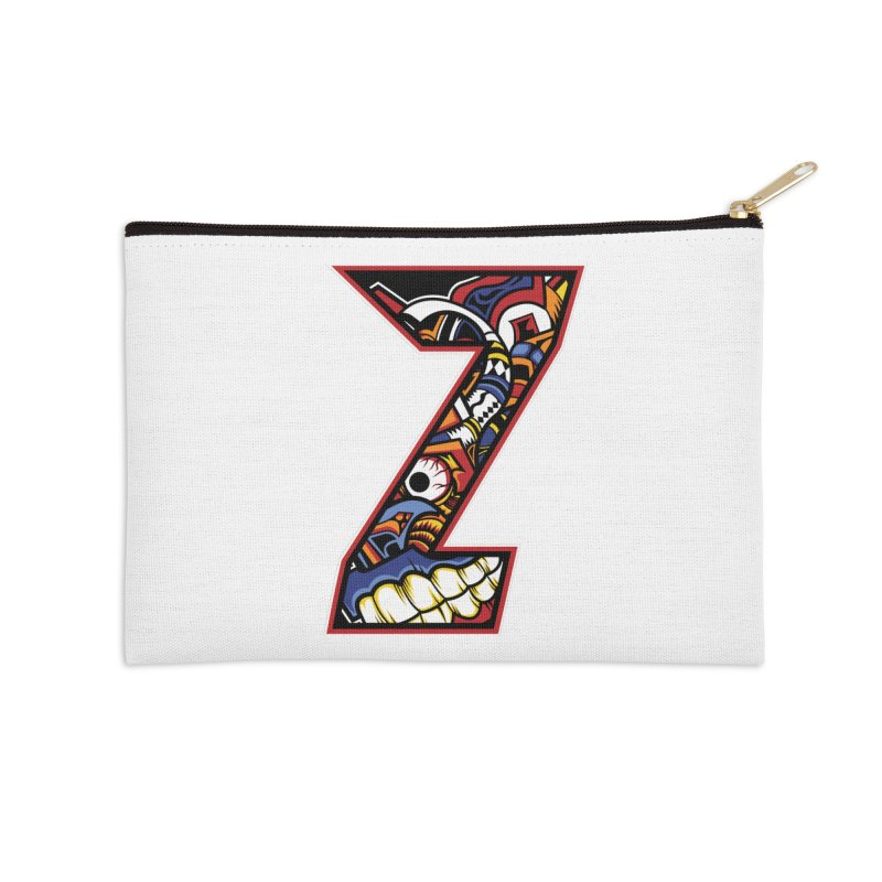 Crazy Face_Z003 Accessories Zip Pouch by Art of Yaky Artist Shop