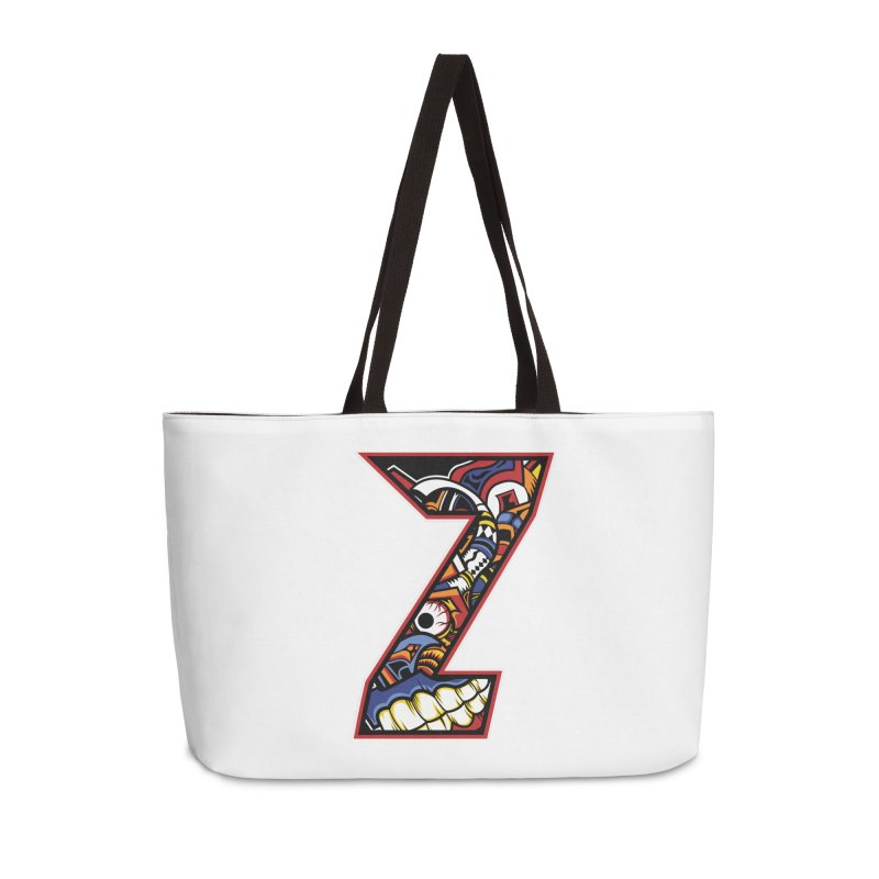 Crazy Face_Z003 Accessories Weekender Bag Bag by Art of Yaky Artist Shop