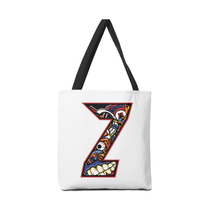 Crazy Face_Z003 Accessories Bag by Art of Yaky Artist Shop