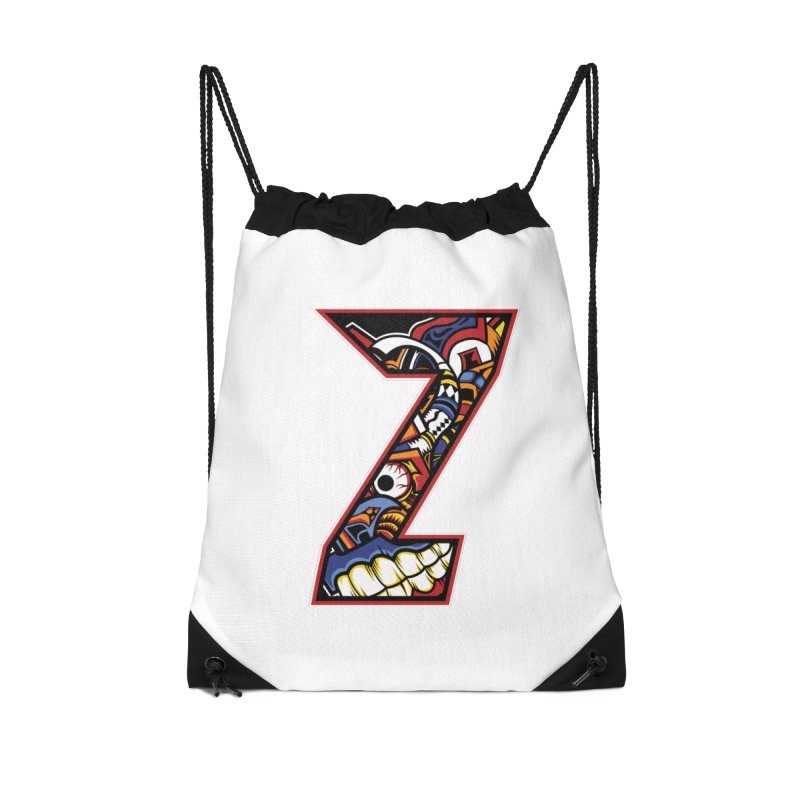 Crazy Face_Z003 Accessories Drawstring Bag Bag by Art of Yaky Artist Shop