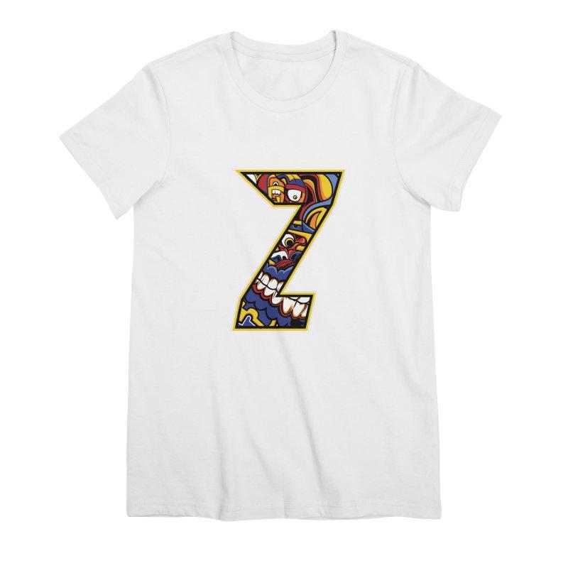 Crazy Face_Z004 Women's Premium T-Shirt by Art of Yaky Artist Shop