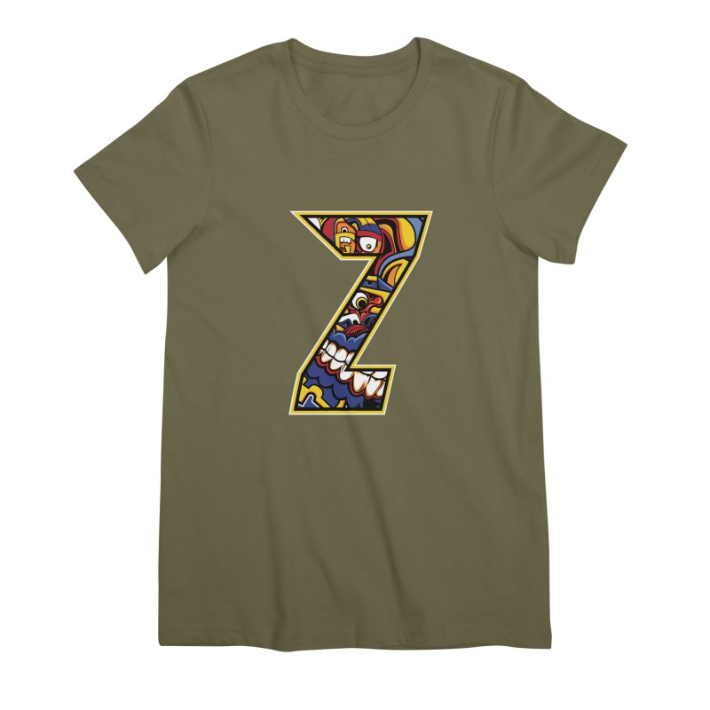 Crazy Face_Z004 Women's Premium T-Shirt by Art of Yaky Artist Shop