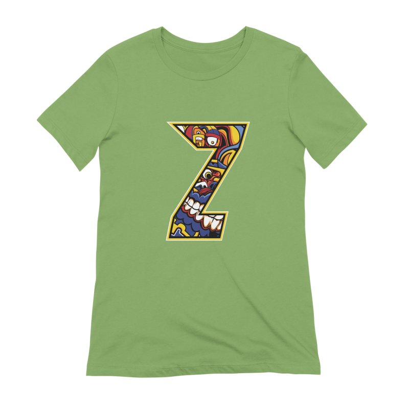 Crazy Face_Z004 Women's Extra Soft T-Shirt by Art of Yaky Artist Shop