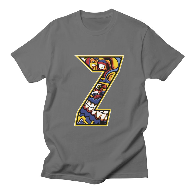 Crazy Face Aplphabet (Z) Men's T-Shirt by Yaky's Customs