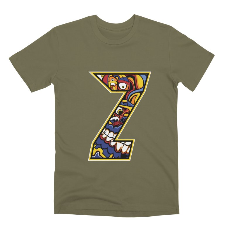 Crazy Face_Z004 Men's Premium T-Shirt by Art of Yaky Artist Shop