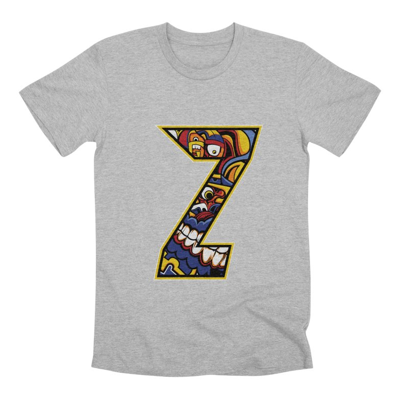 Crazy Face_Z004 Men's Premium T-Shirt by Art of Yaky Artist Shop