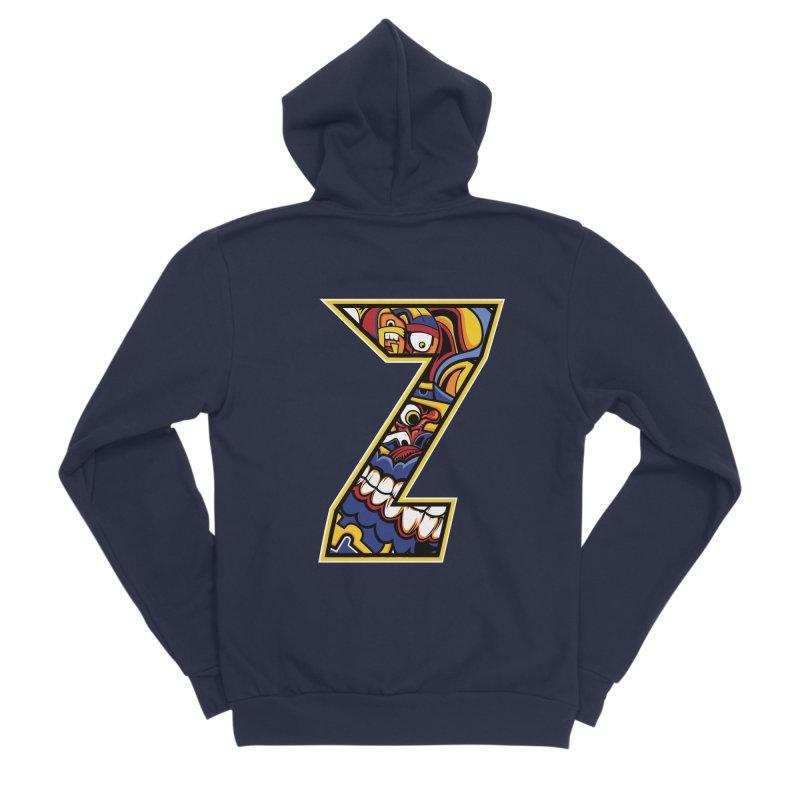 Crazy Face_Z004 Men's Sponge Fleece Zip-Up Hoody by Art of Yaky Artist Shop